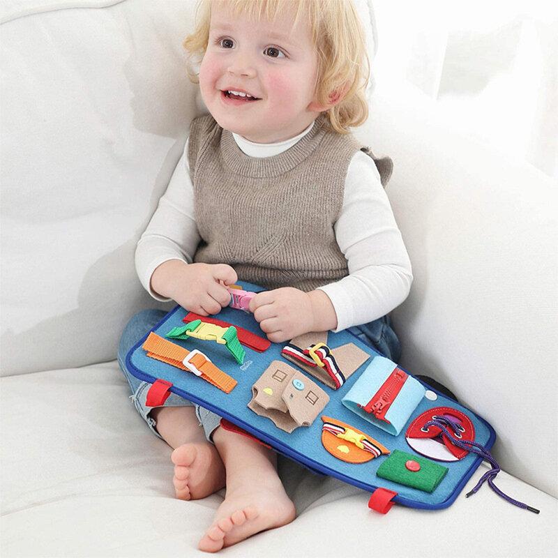 طفل مونتيسوري المهارات الأساسية مجلس النشاط تعلم ألعاب تعليمية لعب للتعلم ألعاب تعليمية للأطفال