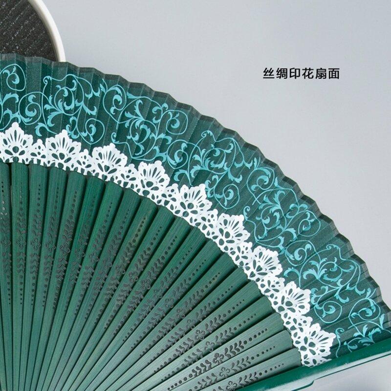 جديد وصول اليابانية الأسود Leques السيدات للطي الحرير مراوح اليد ، الجملة شخصية مروحة خيزران من الزفاف القديم الديكور 9