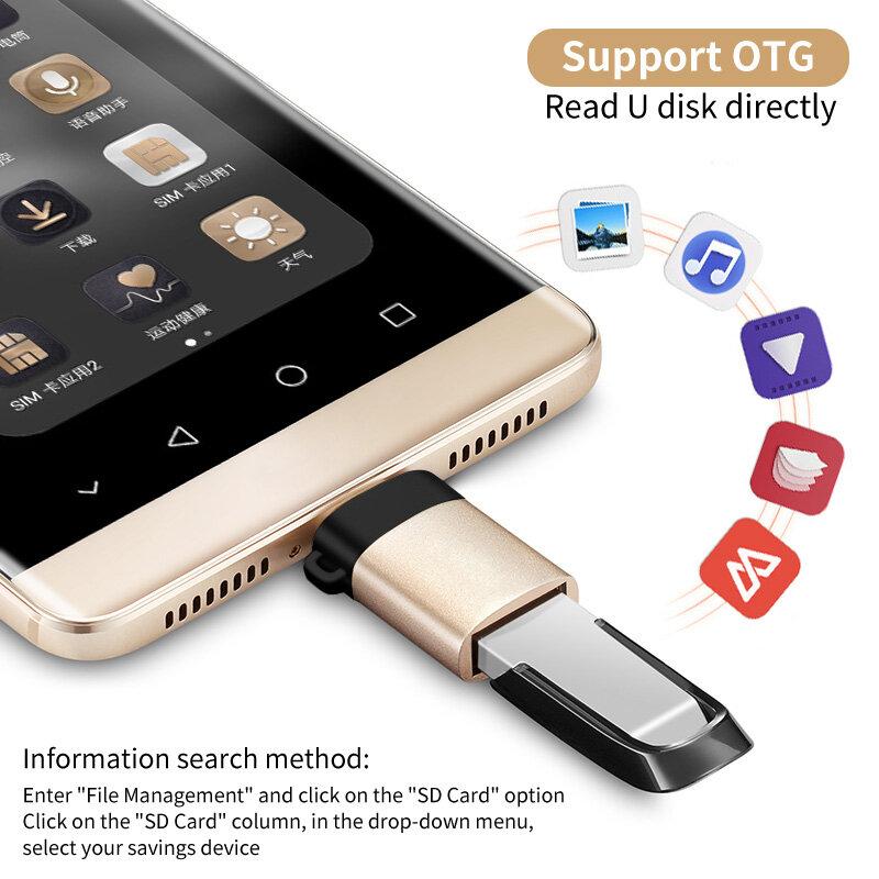 LMDAOO USB C OTG محول سريع USB 3.0 إلى نوع C محول ل MacbookPro شاومي هواوي USB صغير محول نوع-C OTG كابل محول