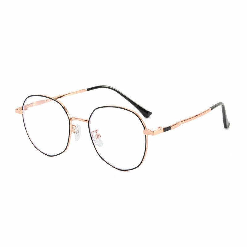 Vintage مكافحة الأشعة الزرقاء نظارات النساء الرجال الكمبيوتر الألعاب نظارات إطار معدني موضة الضوء الأزرق حجب النظارات البصرية