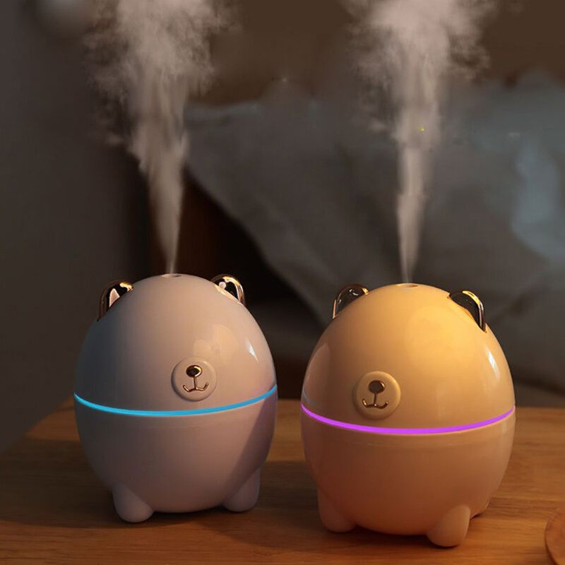 مرطب هواء للمنزل والسيارة ، ناشر زيت عطري بالموجات فوق الصوتية ، مولد ضباب ليلي ، USB ، 220 مللي