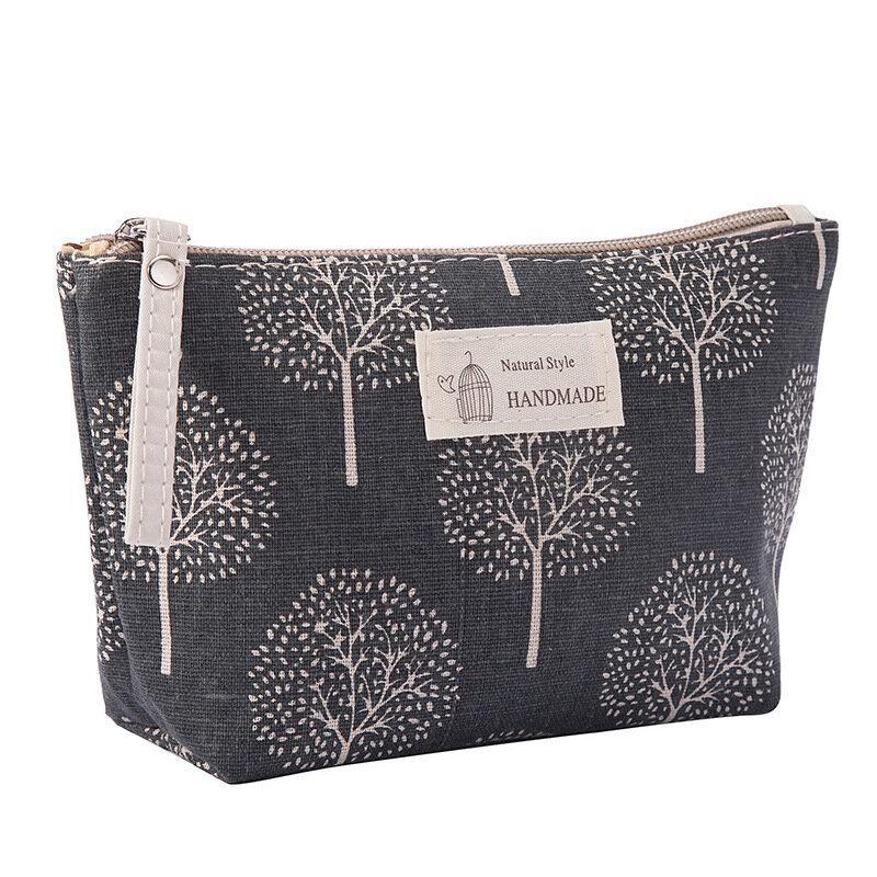 قماش ماكياج حقائب التجميل للنساء السيدات السفر غسل حقيبة النسيج سستة محفظة نسائية للعملات المعدنية تخزين متعددة الوظائف حقيبة مخلب حقيبة يد