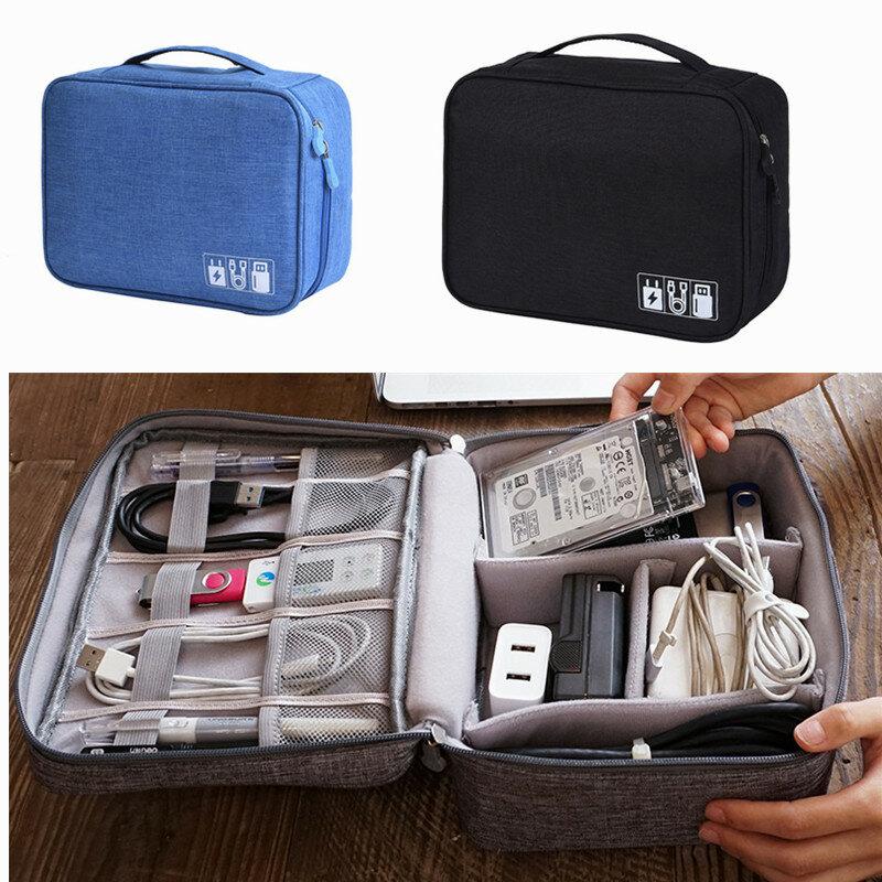 أكياس التخزين المحمولة سستة الملحقات شاحن كابل بيانات USB مستحضرات التجميل خزانة السفر المنظم الحال بالنسبة لسماعات الرأس الرقمية