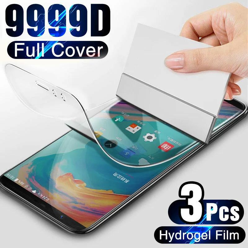 هيدروجيل فيلم على واقي للشاشة ل OnePLus 7T 6T 5T 8T Pro غطاء كامل شاشة مرنة واقي للشاشة ل OnePLus 7 6 5 8 9 9R Nord