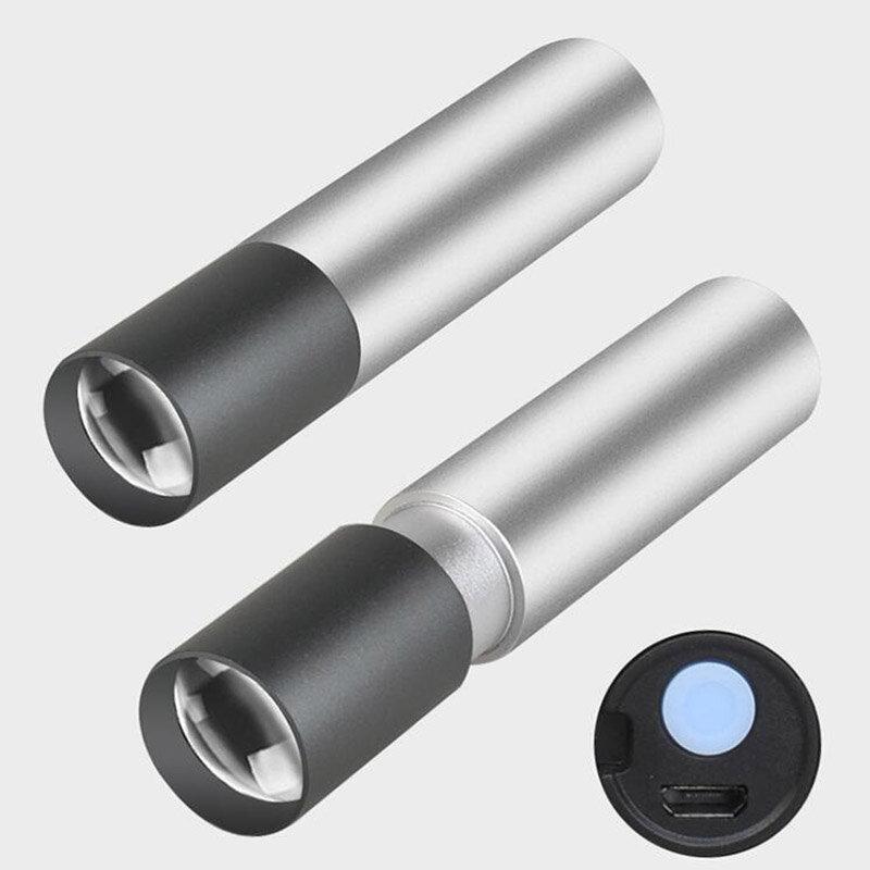 مصباح يدوي صغير عالي الطاقة Q5 USB قابل لإعادة الشحن ، مصباح LED صغير ، ضوء ليلي ، تخييم ، صيد السمك ، عمل ، تكبير