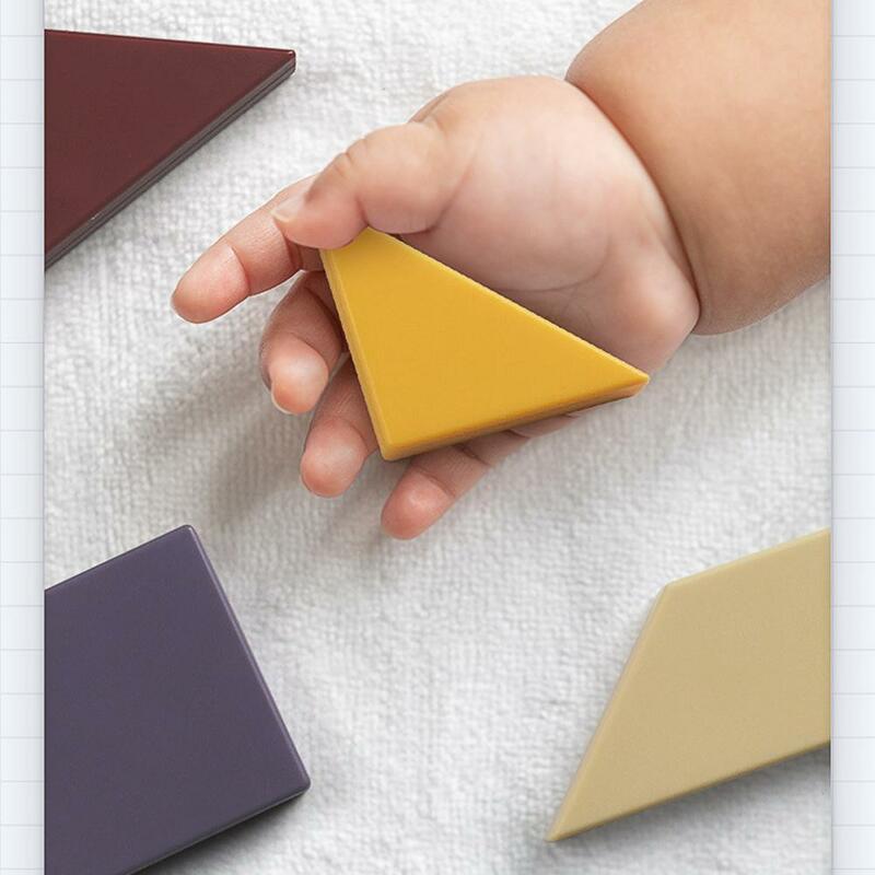 1 صندوق Qiyi Tangram لعبة الأطفال التعليم المبكر التدريب لغز لعبة بانوراما المعرفية