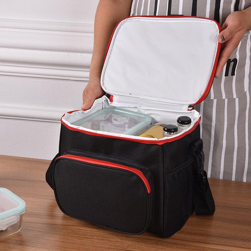 حقيبة مُبرّدة معزولة حرارية حقائب كبيرة نساء رجال نزهة صندوق طعام بنتو رحلات شواء وجبة الجليد الرمز البريدي حزمة مستلزمات لوازم منتجات