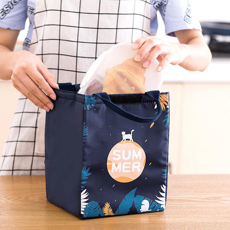 الكرتون برودة الغداء حقيبة ل نزهة الاطفال النساء السفر الحرارية الإفطار المنظم معزول حقيبة التخزين مقاوم للماء ل علب الاغذية