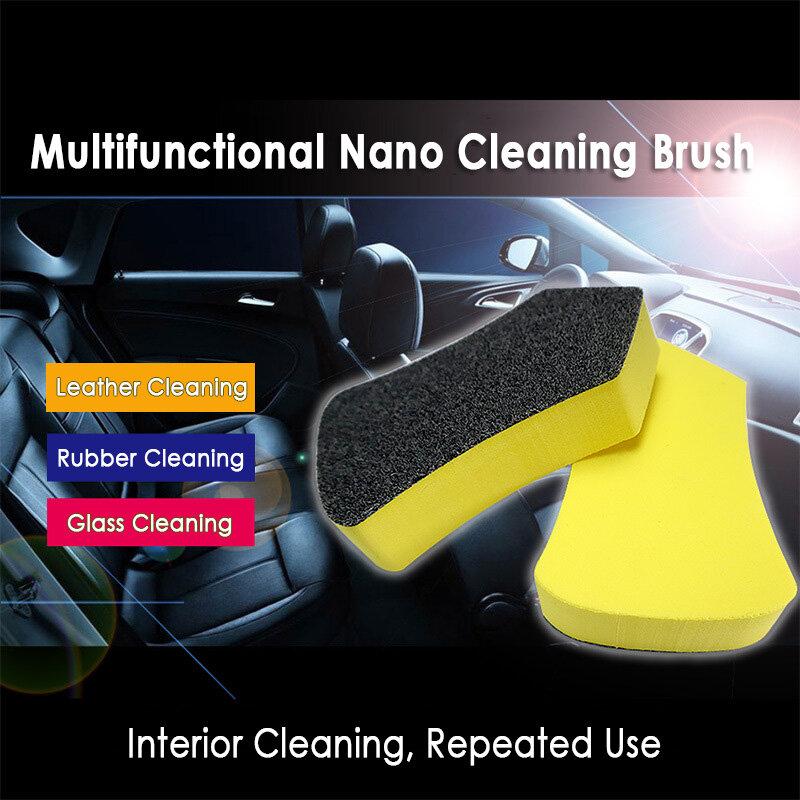 مقعد سيارة جلد تنظيف فرشاة إزالة التلوث أداة العناية التلقائية بالتفصيل تلميع فرشاة نظيفة الداخلية غسل أداة مقعد مسح