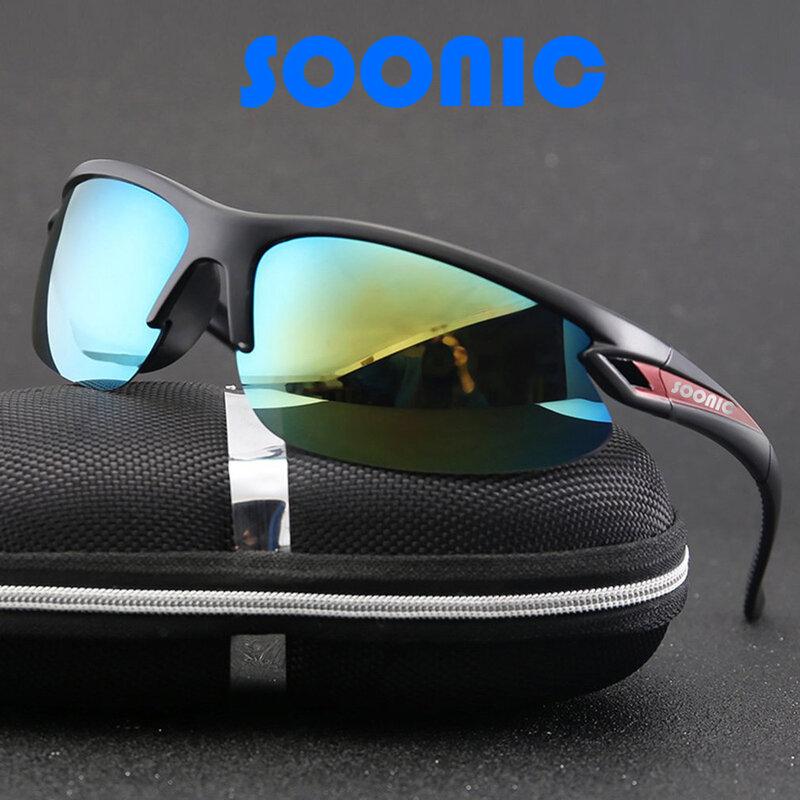 اليابان SOONIC الصيد النظارات الشمسية المضادة للأشعة فوق البنفسجية الرياضة في الهواء الطلق تسلق الجبال ركوب Uv400 نظارات للقيادة الصيد النظارات ...