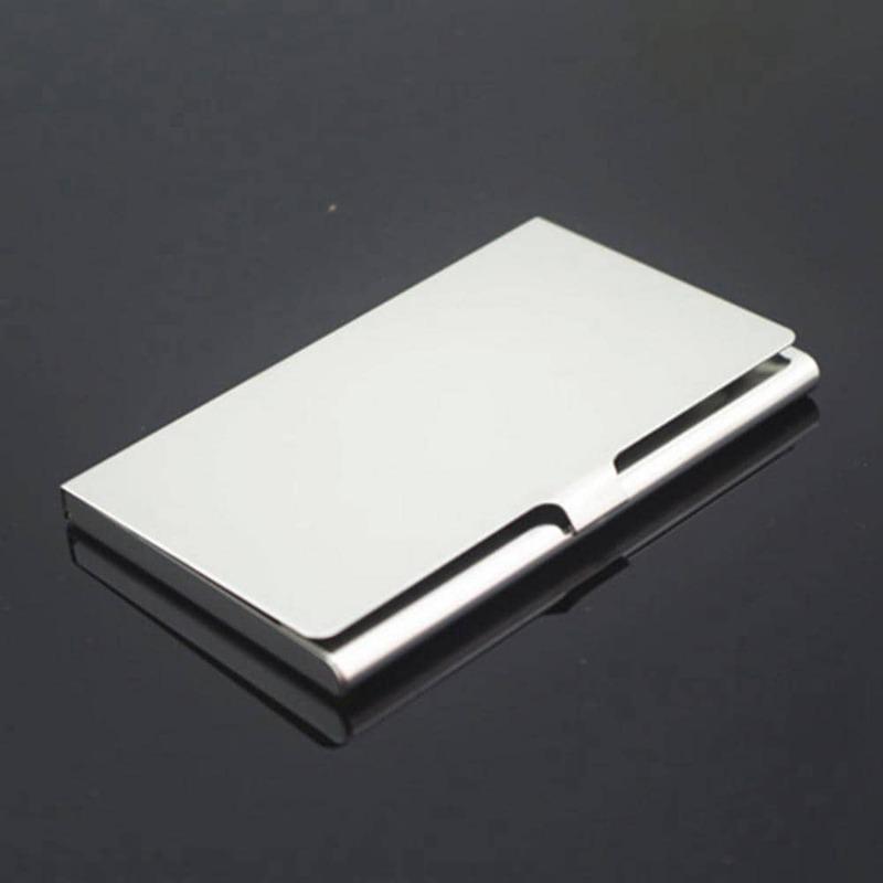 70% رائجة البيع سبائك الألومنيوم المحمولة الائتمان الأعمال حامل بطاقات التعريف الشخصية محفظة صناديق الغلاف