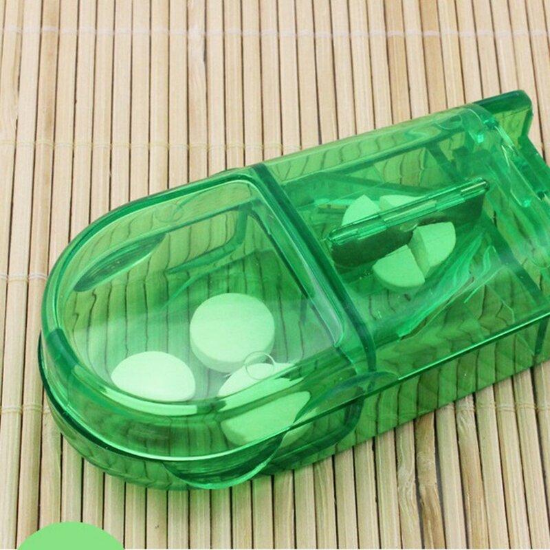 مقسّم أٌقراص صندوق قابل للنقل مريح المخدرات صندوق اللوحي القاطع الفاصل الطب حبة حامل صندوق مقسّم أٌقراص