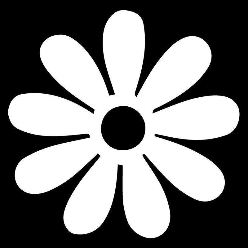 الإبداعية شخصية ديزي زهرة لطيف الكرتون زين نافذة السيارة الديكور شخصية البلاستيكية مقاوم للماء زين أسود/أبيض