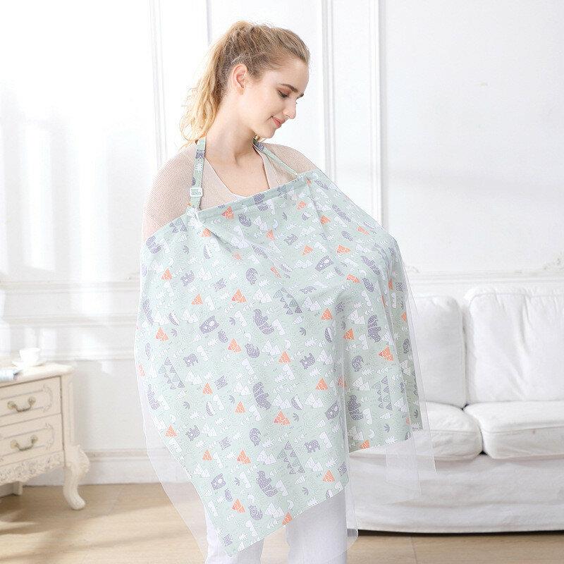 تنفس تغذية الطفل التمريض يغطي أمي الرضاعة الطبيعية التمريض المعطف غطاء قابل للتعديل الخصوصية المئزر في الهواء الطلق التمريض القماش