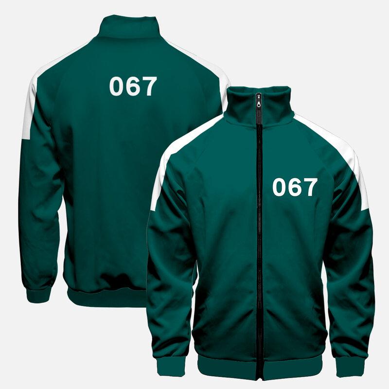 لعبة الحبار تأثيري قناع تنكري سترة giacca دا أومو junghoyeon stesso abbigliamento sportivo 456 218 067 maglione هالوين
