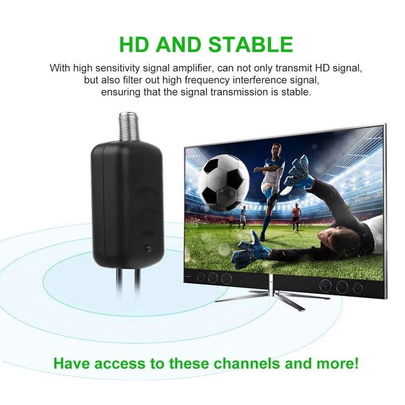 30DBI التلفزيون هوائي مكبر صوت أحادي الداعم ل HDTV التلفزيون هوائي إشارة الداعم هوائي منخفض الضوضاء سهلة التركيب