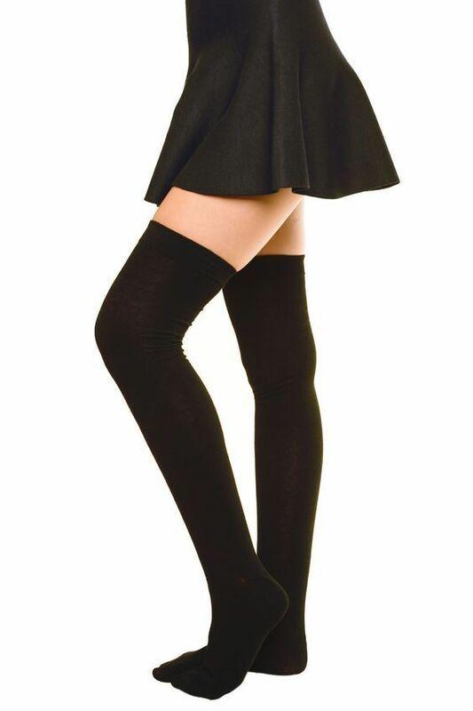 جوارب قطنية طويلة للنساء والفتيات ، جوارب مثيرة ودافئة فوق الركبة ، عصرية ، مجموعة جديدة 2020