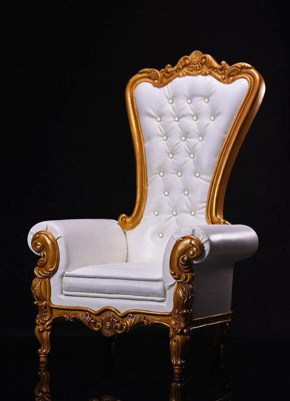 مقعد أريكة مقاس 1/6 من VSTOYS طراز 17SF01 مقاس أبيض/أحمر/بني أوروبي مقاس 12 بوصة مستلزمات لمشهد العمل