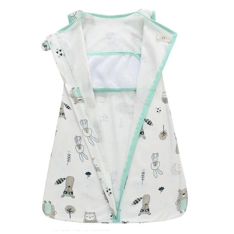 الوليد الطفل قماط كيس طفل بطانية الوليد الفراش 100% القطن المطبوعة 0-18 متر كيس النوم حفاضات تغيير قماش للف الرضع