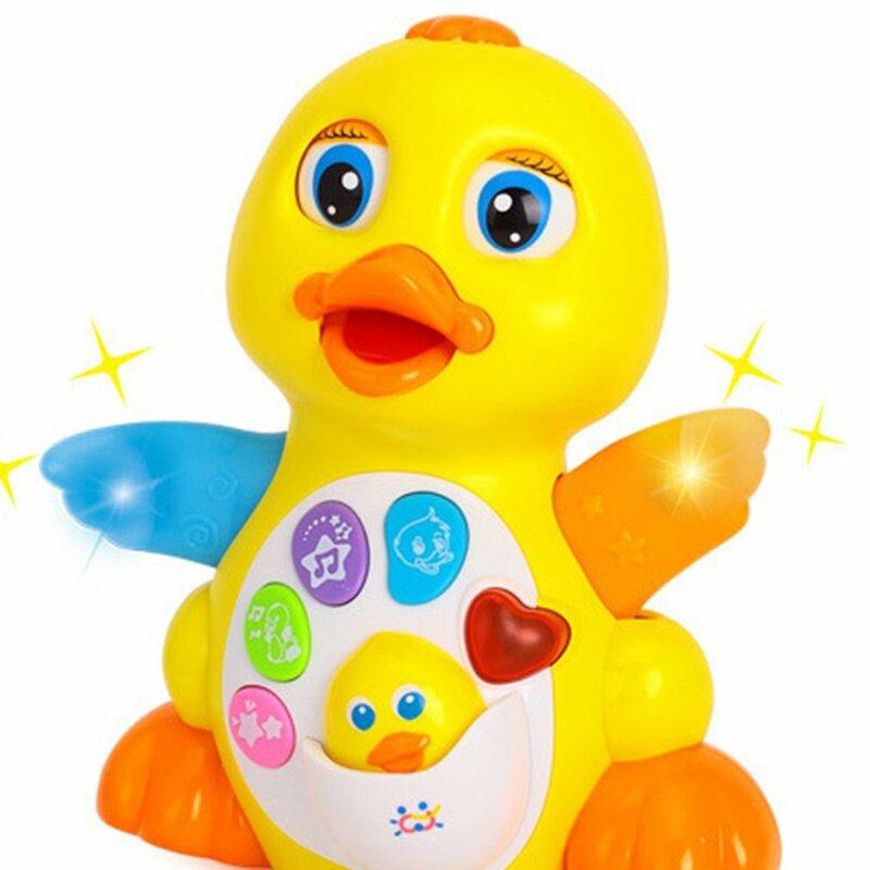 ألعاب الأطفال EQ ترفرف بطة صفراء الغناء الرقص الرضع الموسيقى الكهربائية العالمي لعب للأطفال الأطفال التعليم المبكر