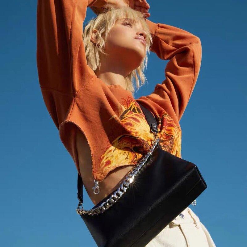 العلامة التجارية الفاخرة مصمم رسالة الموضة حقيبة تسوق رائعة الرجعية حقيبة يد كاجوال حقيبة كتف الجلود سلسلة حقيبة الإناث