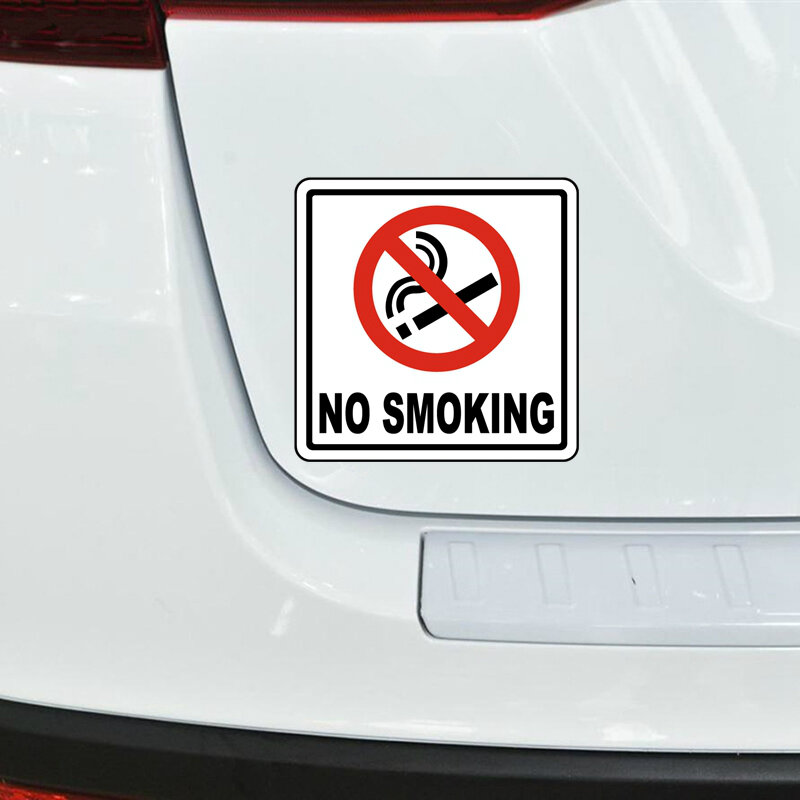 15 سنتيمتر x 15 سنتيمتر لا التدخين تحذير علامة سيارة ملصقا دراجة نارية الوفير جذع المحمول نافذة الشارات الفينيل سيارة التصميم الديكور