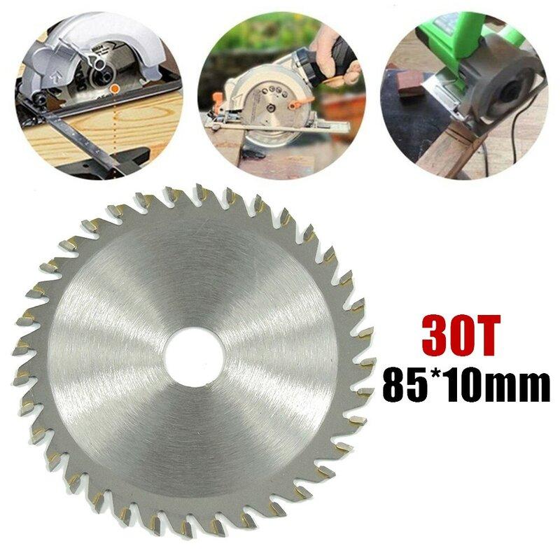 85X10 مللي متر منشار دائري شفرة 30T منشار دائري شفرة أقراص عجلة لقطع الخشب كربيد أسطوانة تقطيع لقطع الخشب