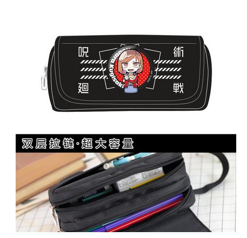 جديد Jujutsu Kaisen إتادوري يوجي جوجو ساتورو Fushiguro Megumi القلم حقيبة القرطاسية طالب عالية مقلمة حقيبة التخزين السعة