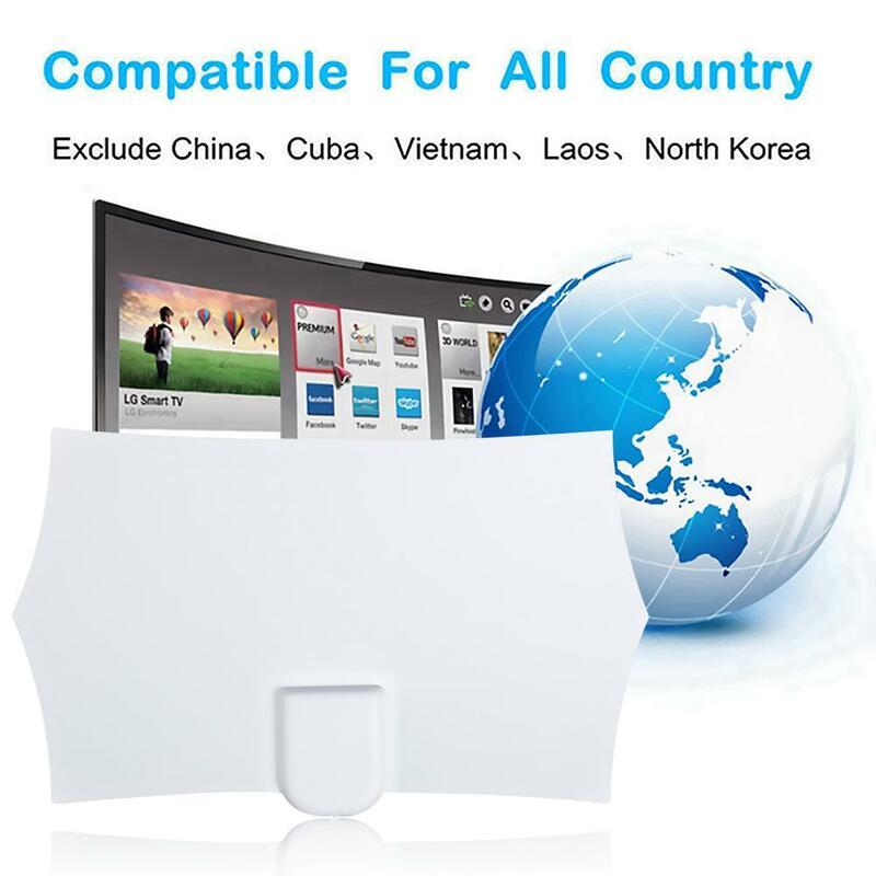 JT0176 داخلي هوائي رقمي خفيف الوزن ورقيق للغاية عالية الأداء 960 ميل 4K HDTV 1080P جهاز استقبال الإشارات مكبر للصوت