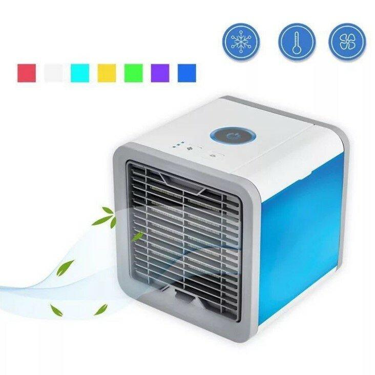 مبرد الهواء المحمول مروحة صغيرة USB 7 ألوان ضوء مروحة مكيف الهواء المرطب لتنقية سطح المكتب مروحة تبريد الهواء للمنزل مكتب