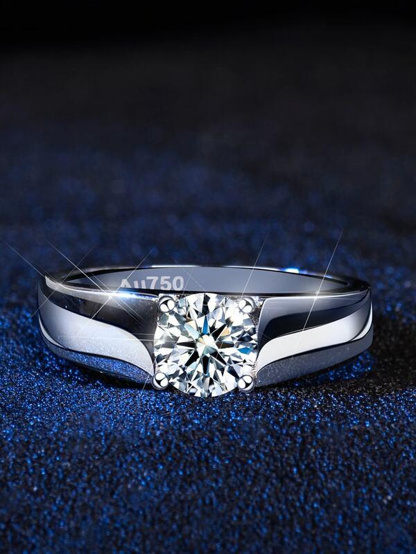 خاتم مويسانيتي من الفضة الإسترليني عيار 2021 1 قيراط للرجال ، مجوهرات ألماس فاخرة ، هدايا للرجال ، 925