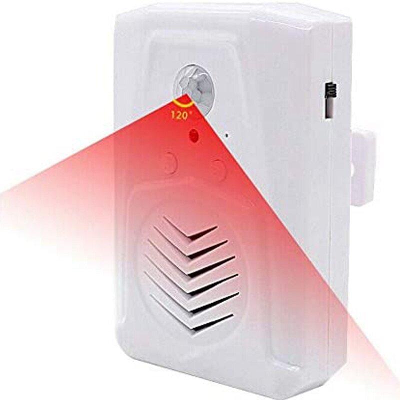 2 قطعة استشعار الحركة باب مفتاح الجرس الأشعة تحت الحمراء الجرس مستشعر حركة لا سلكي سلبي للأشعة الحمراء صوت المطالبة ترحيب دخول إنذار