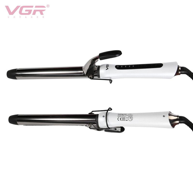 VGR المهنية السلامة مموج الشعر LED درجة الحرارة الرقمية عرض مكواة تجعيد الشعر الأسطوانة تجعيد العصا Waver موضة التصميم أداة