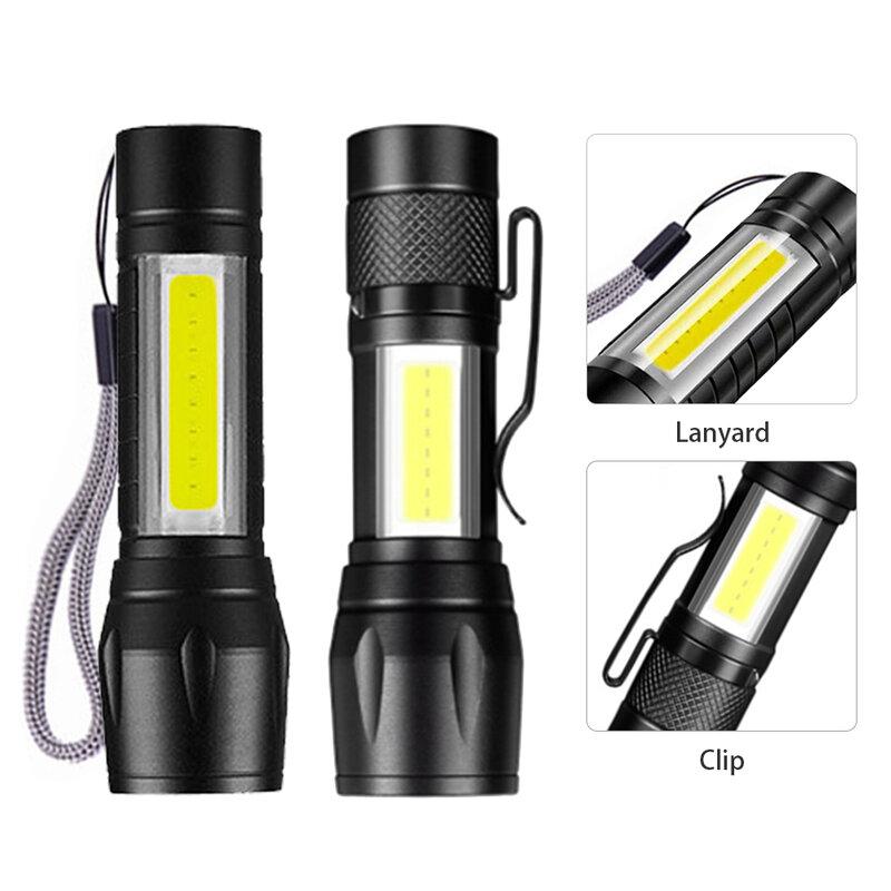 مصغرة قابلة للشحن مضيا XP-E Q5 الشعلة مصباح قابل للتعديل Penlight للماء التخييم فانوس التكبير التركيز التكتيكية مصباح يدوي