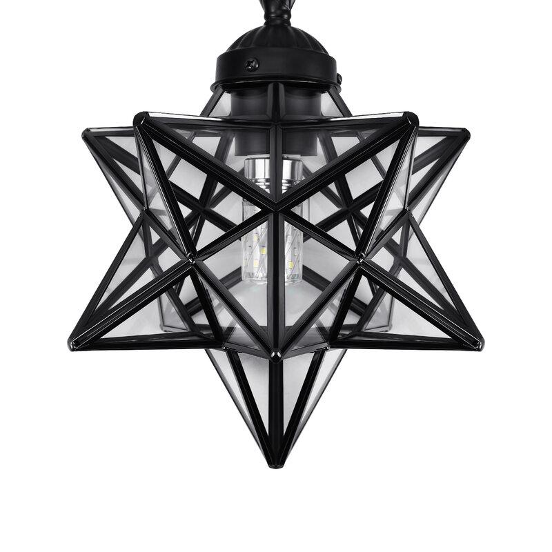 مصباح السقف المعلق على شكل نجمة morbirds من الزجاج البلوري ، مصباح السقف المعلق ، تركيبات الإضاءة