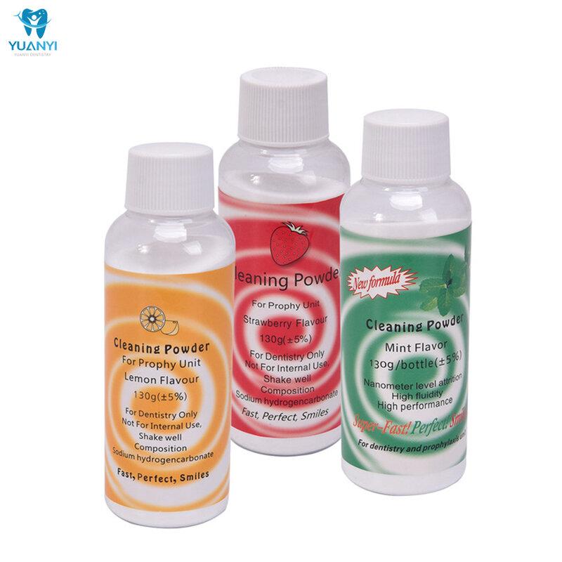 مسحوق تبييض الأسنان 130 جرام مسحوق تنظيف الأسنان بنكهة الليمون والنعناع إيسن تدفق الهواء النفاث لتلميع البلاك وإزالة البقع