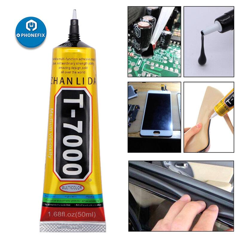 15 مللي T-7000 قوي جديد لاصق راتنج الأيبوكسي T7000 الأسود السائل الغراء سوبر الغراء تسرب سماعة شاشة تعمل باللمس إصلاح الإطار لتقوم بها بنفسك الغراء