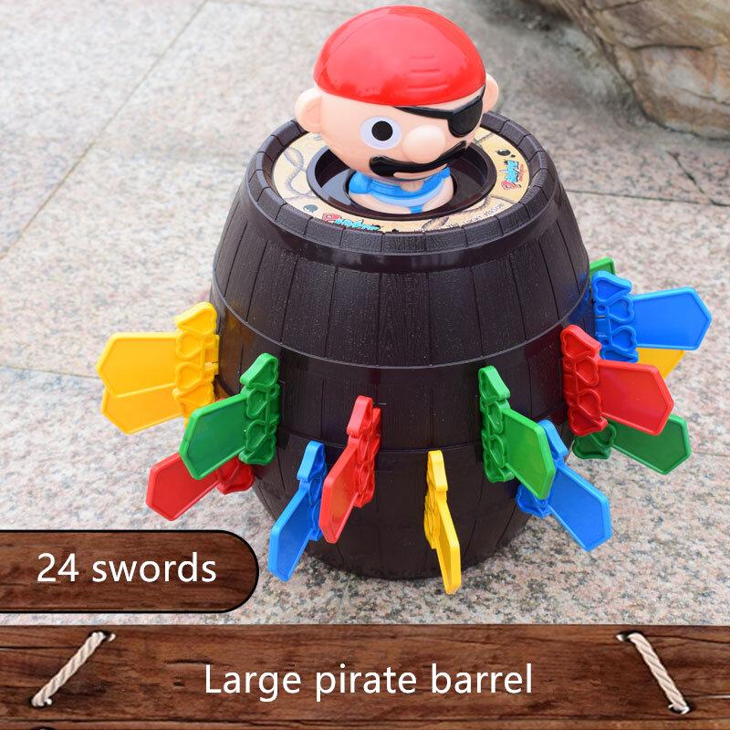 القراصنة برميل مع السيف و برميل خشبي المتضخم صعبة الوالدين والطفل التفاعلية حزب الضغط الإبداعية مجلس لعبة لعبة