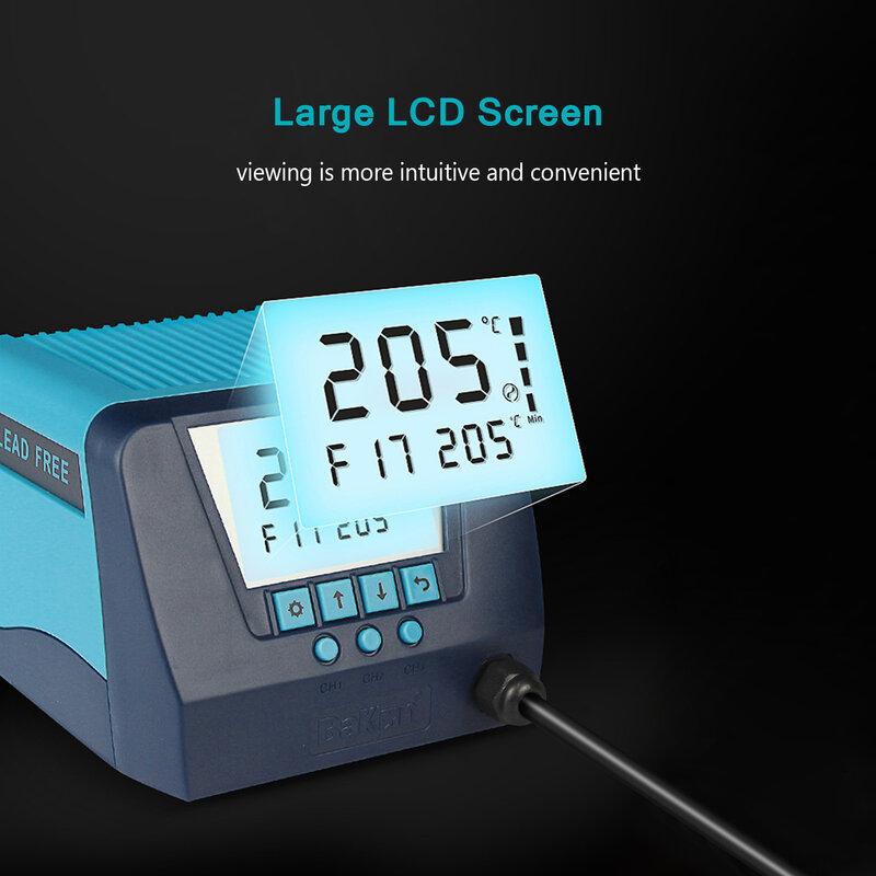 LCD ديسولديرينغ محطة إيدي الحالي آلة لحام قابل للتعديل درجة الحرارة الحرارة بندقية مسدس هواء ساخن 550 واط قوة كبيرة