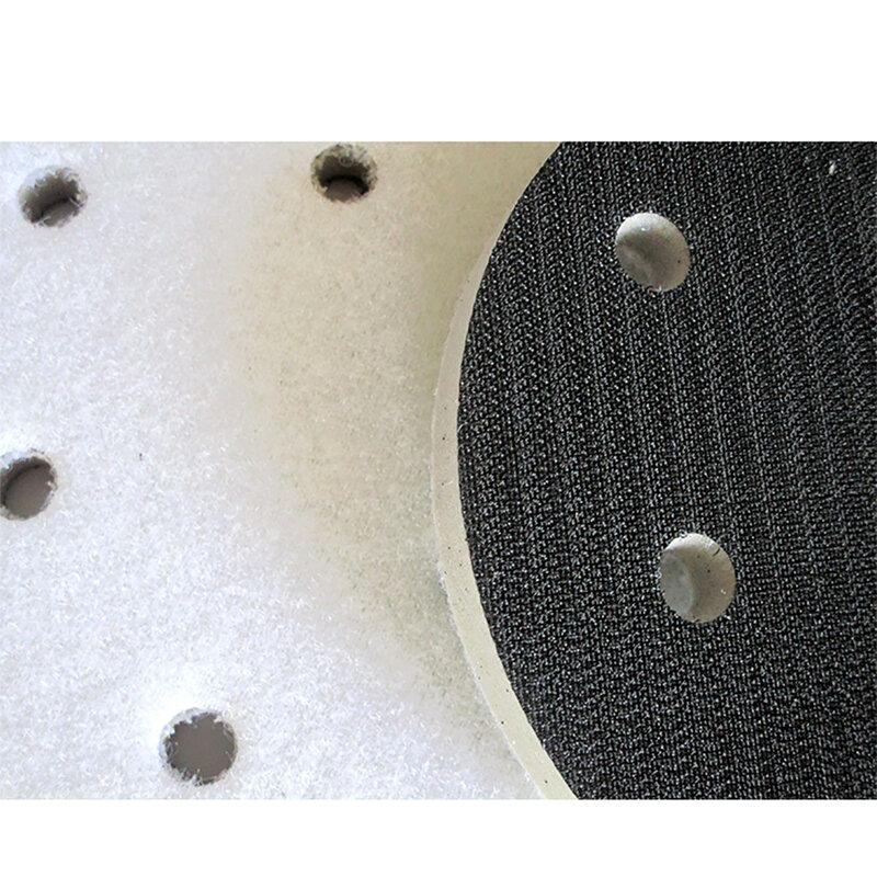 5 بوصة 125 مللي متر 6-Hole عالية الكثافة واجهة الوسادة هوك وحلقة الرملي أقراص العازلة الإسفنج لتلميع سطح متفاوتة