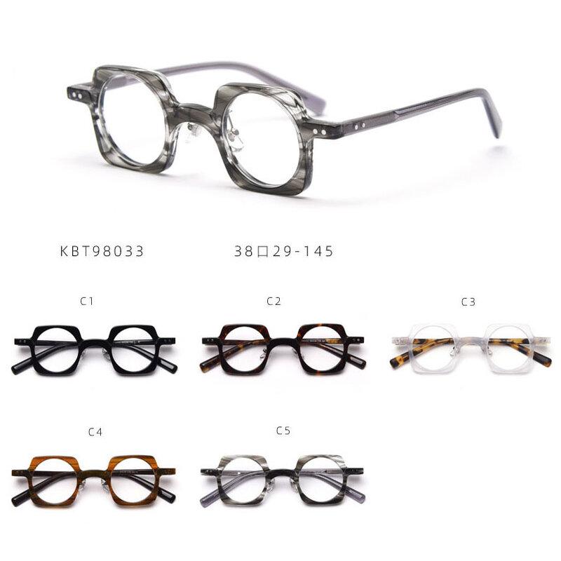 مربع خلات إطار جولة عدسات مسطحة نظارات المرأة و الرجال مشهد