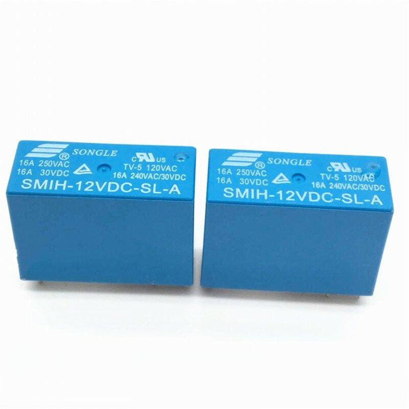 10 قطعة/الوحدة السلطة التبديلات SMIH-12VDC-SL-A 12 فولت 16A 6PIN مجموعة من التتابع الأصلي مفتوحة عادة