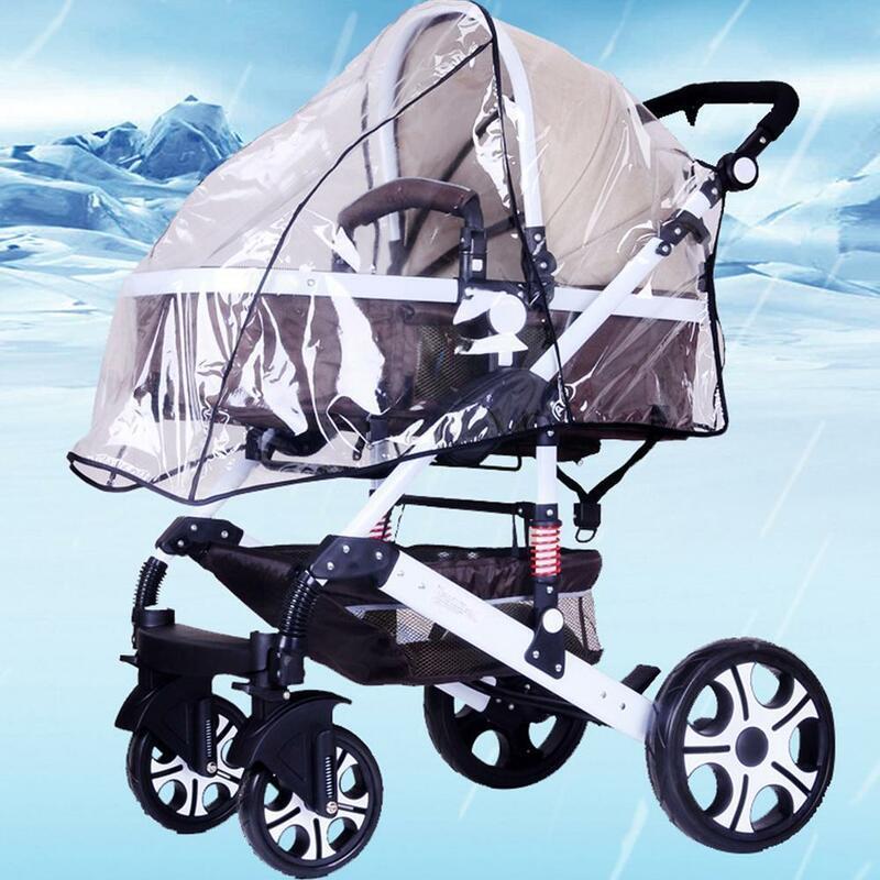 عربة غطاء للمطر عربة العالمي الزجاج الأمامي عربة معطف واق من المطر مظلة الغبار غطاء الطفل عربة اكسسوارات غطاء G5C1