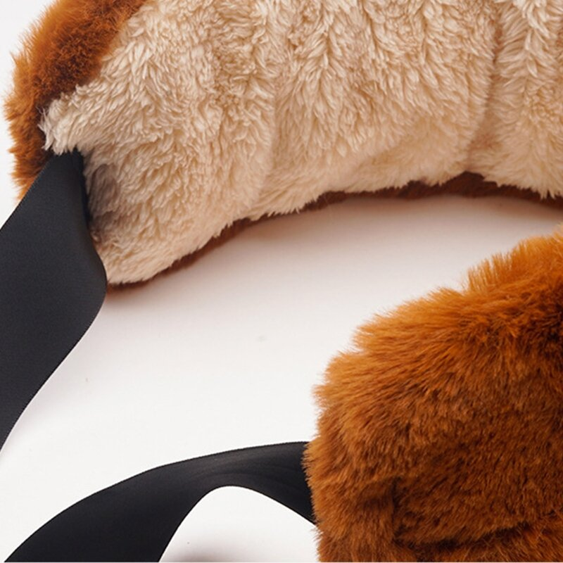 غطاء للأذنين من القطيفة الغامضة للفتيات اليابانيات للشتاء ربطة للأذن على شكل قطة لطيفة بأربطة للأذن مدببة للأذن لتزلج على الثلج في الهواء ال...