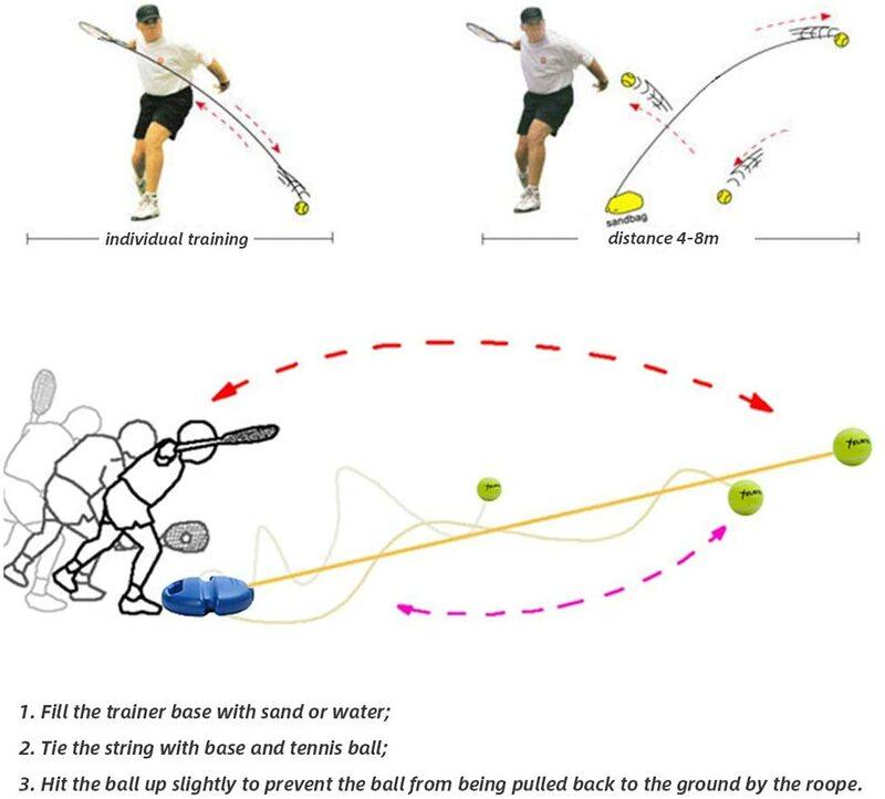 تنس ممارسة المدرب واحد الذاتي دراسة التنس أداة التدريب ممارسة انتعاش الكرة اللوح شرارة جهاز تنس الملحقات