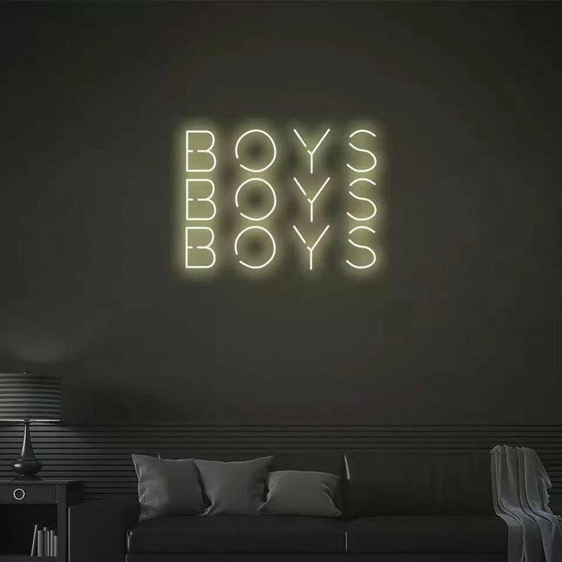 """""""بنين"""" النيون تسجيل مخصص النيون ضوء تسجيل Led ضوء مخصص النيون ديكور جدار الغرف Ins متجر ديكور"""
