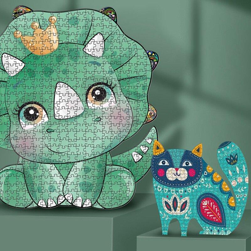 لغز لعبة كل قطعة هو الكرتون الحيوان غير النظامية بانوراما للبالغين الاطفال التعليمية عيد ميلاد اللعب الهدايا الملونة