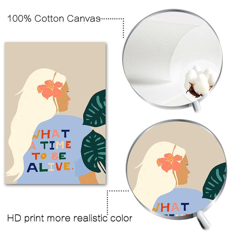 مجردة وجه العين فتاة السباحة اليد ورقة الرسم على لوحات القماش الجدارية الشمال الملصقات و يطبع جدار صور لغرفة المعيشة ديكور
