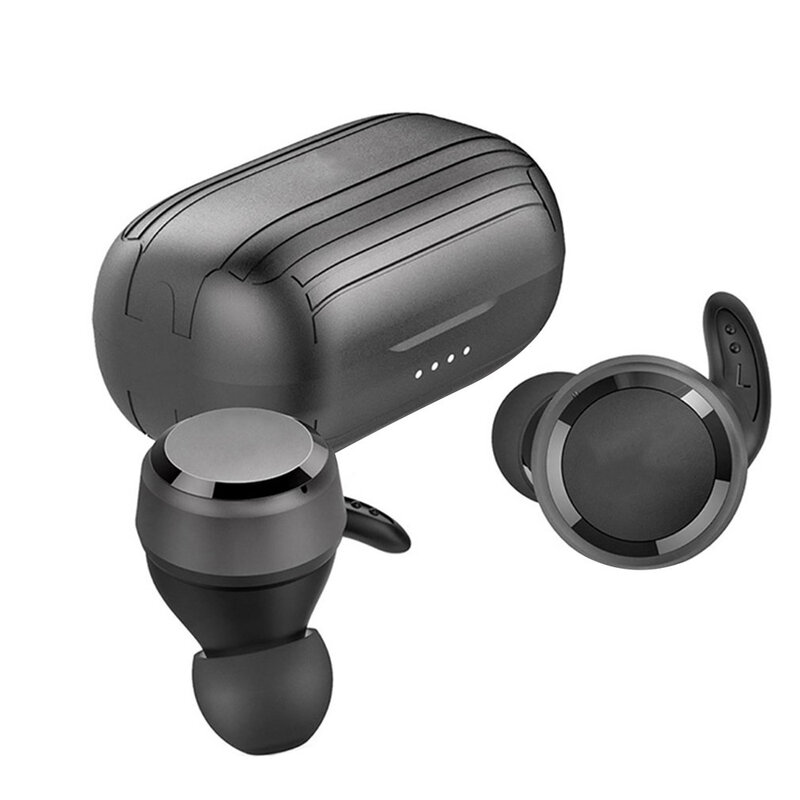 T280T سماعات لاسلكية صغيرة داخل الأذن الرياضة اللاسلكية عميق باس سماعات مقاوم للماء سماعات مع هيئة التصنيع العسكري شحن