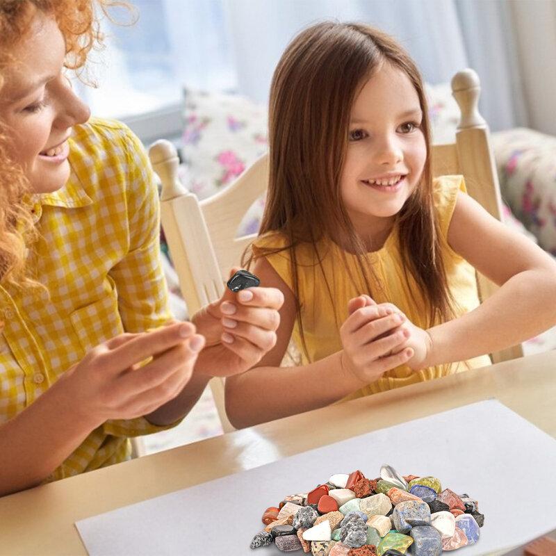 24 قطعة حجر الصخور الصخور المعدنية ألعاب تعليمية مثالية مبتكرة مع قسط الجودة للأطفال الفتيات والفتيان روك جمع